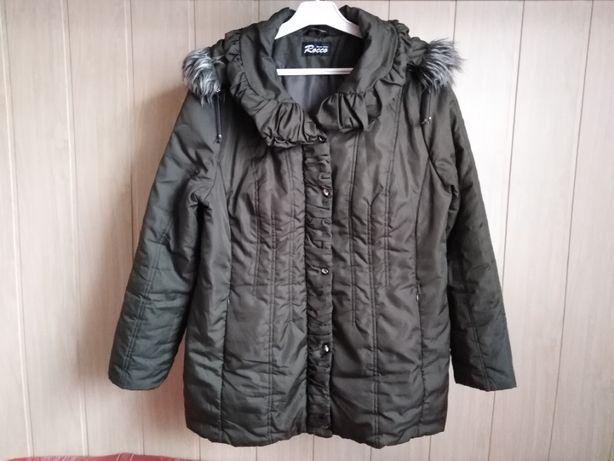 Zimowa zielona kurtka