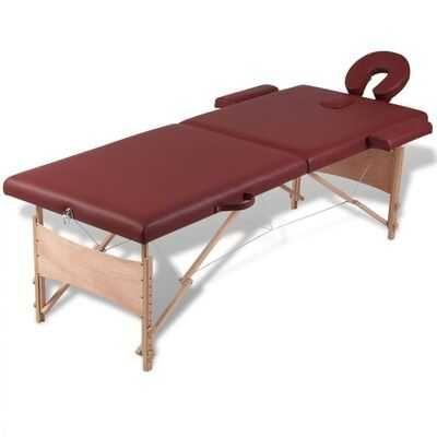 Mesa de massagem, dobrável, em vermelho, com 2 zonas **envio grátis**
