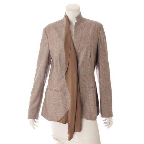 Блейзер пиджак из 100% кашемира от Brunello Cucinelli клетка беж
