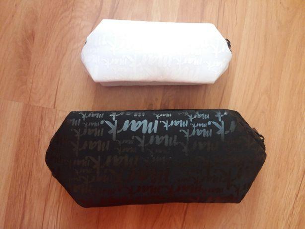 Kosmetyczki 2 sztuki - zestaw - czarna i biała - nowe