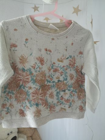 Bluza Zara 98 kwiaty