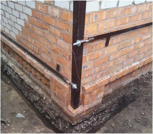 Стяжка стен дома, защита от трещин. КРОВЕЛЬНЫЕ РАБОТЫ.