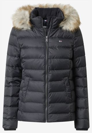 Kurtka zimowa TOMMY JEANS HILFIGER Basic Hooded Jacket rozm. S