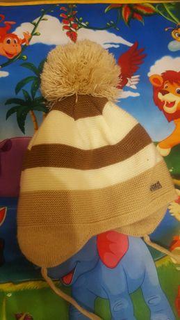 Теплая зимняя вязаная шапка Gabbi Габби на 6 месяцев