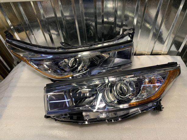фара Toyota Highlander USA 2014 2015 2016. Фары оптика Хайлендер США