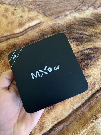 ≻SmartTV MX9 4/64  Android 10.1 RK3229 СмартТВ Приставка Андроид бок