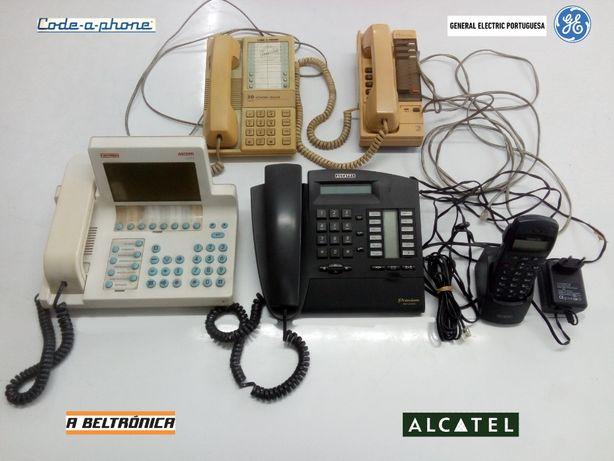 Telefones central + telefones analógicos vintage