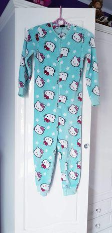 Ciepły kombinezon do spania zapinany dziecięcy hello kitty 7-8 lat