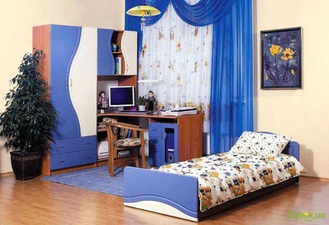 Стенка детская эколь с кроватью