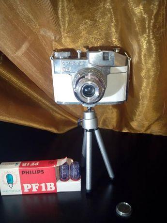 """Máquina Fotográfica """"Vintage"""" Comet S """" + Flash + Tripé - 1950"""