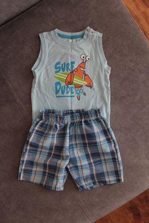 Zestaw na lato komplet koszulka i spodenki 74cm