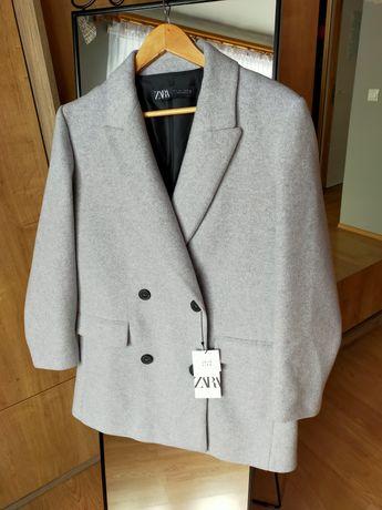 Nowy płaszcz dwurzędowy Zara