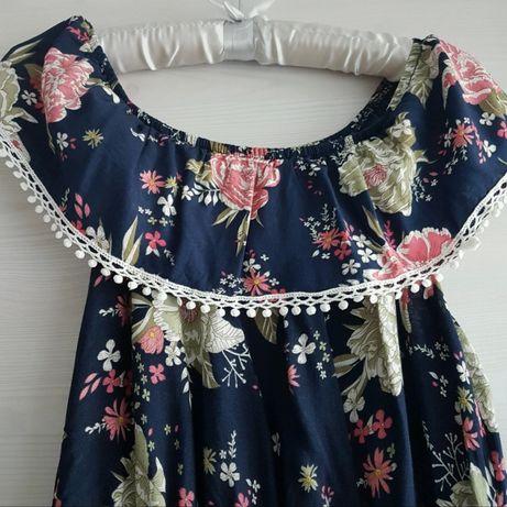 Sukienka długa hiszpanka kwiaty