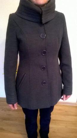 Płaszcz zimowy, rozmiar 36, szary, ciepły i modny