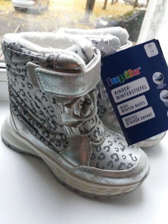 Новые зимние сапоги сапожки ботинки для девочки 28 17.5 см Lupilu