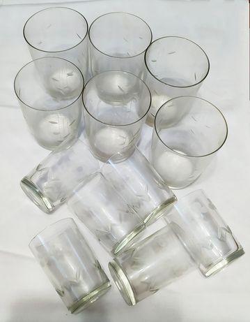 Набор стаканы и стопки 6+6