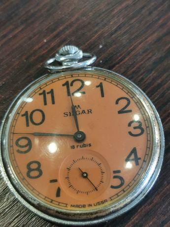 Relógio silgar de bolso corda