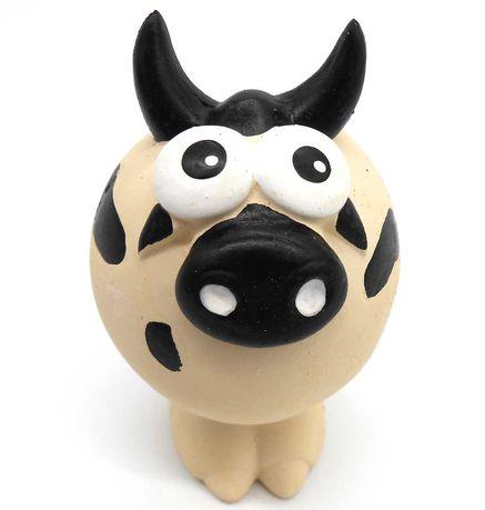 Zabawka gumowa lateksowa piszczałka dla psa gryzak krowa 13cm