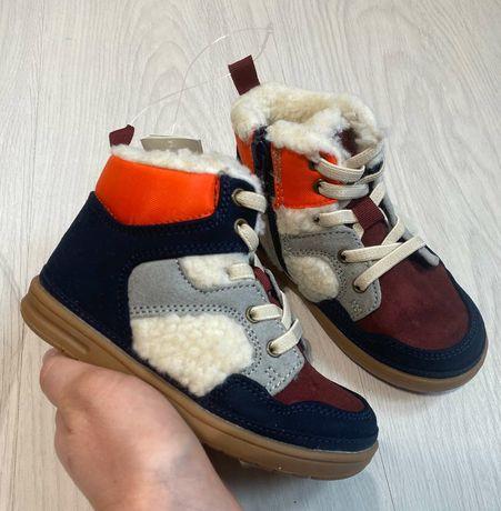 Gap, новые зимние ботинки (хайтопы), шерсть, 26 размер (16 см)
