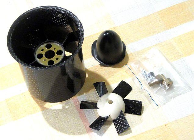 Turbina EDF Vasafan 65 mm do modelu odrzutowca, kompozyt węglowy