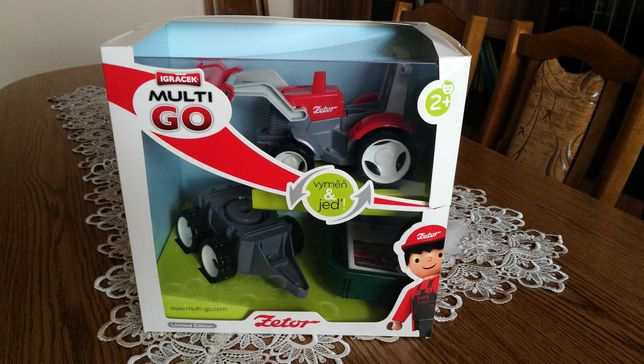 Zabawki Igracek Multigo Traktor Zetor+przyczepa LIMITED EDITION NOWE