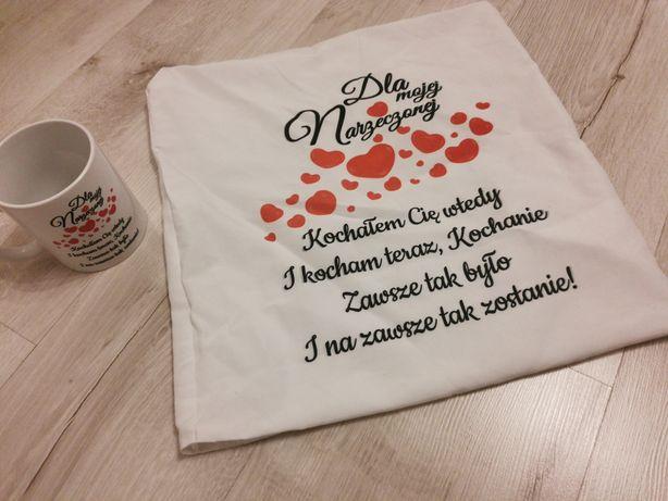 Zestaw kubek poszewka Walentynki Dzień Kobiet