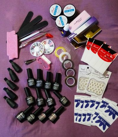 Маникюрный набор для ногтей Гель-лаки Гели Декор + Подарок