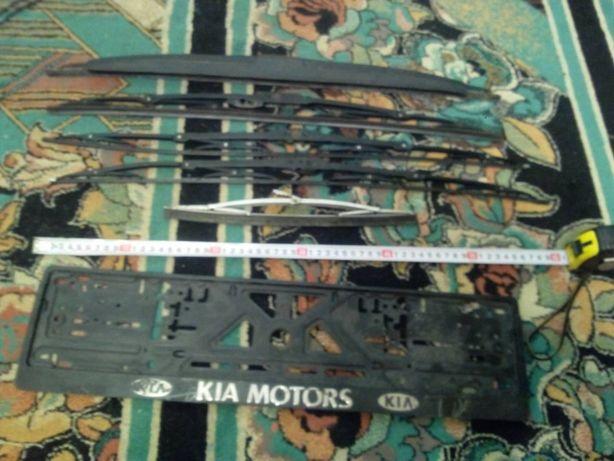 Щетки стеклоочистителя дворники каркасные 600 мм + рамка номера в дар