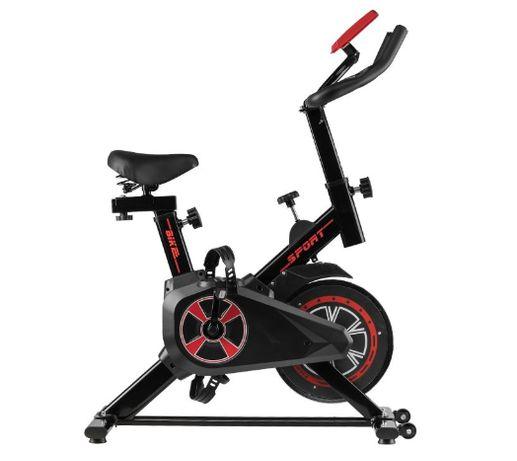 Rower stacjonarny treningowy SPININGOWY MAGNETO 01 CZARNY fitness