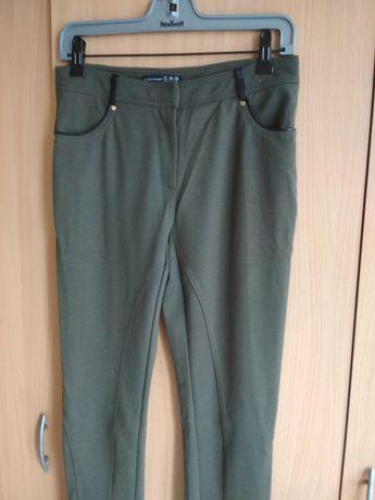 Spodnie legginsy khaki damskie