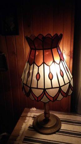 Lampa stojąca witrażowa REKODZIEŁO 1980r