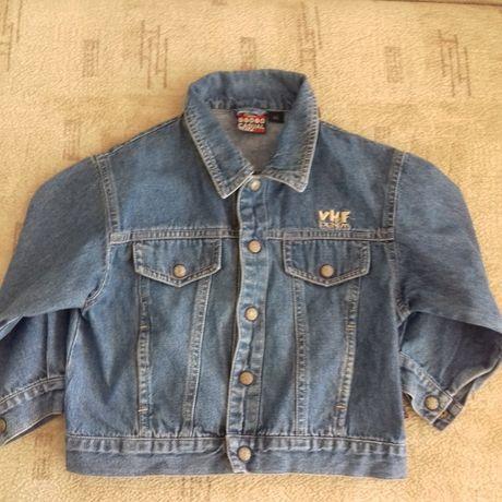 Джинсовый пиджак на мальчика 86 см