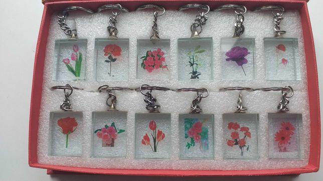 Porta-chaves - Flores - novos - portes incluidos
