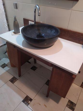 Szafka podumywalkowkowa, umywalka kamienna