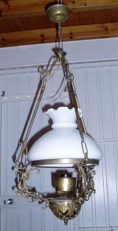 candeeiro de tecto em latão