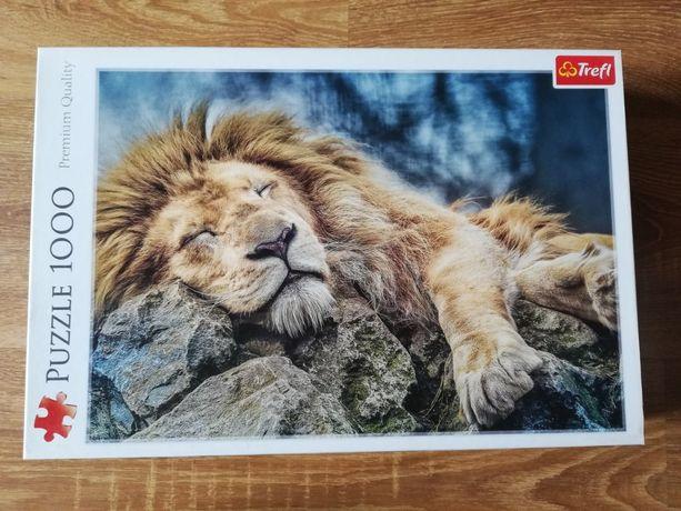 Puzzle 1000 Trefl Śpiący lew