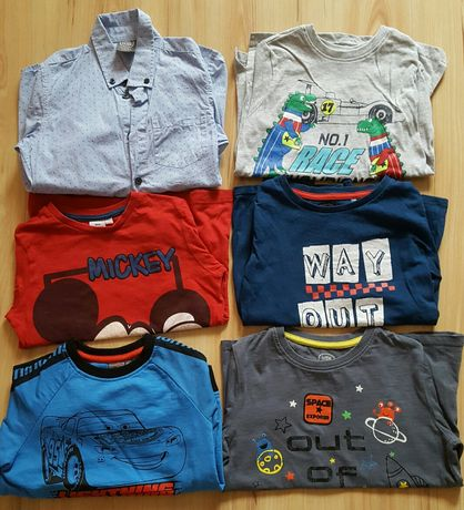 Koszulki ,bluza i koszula na długi rękaw dla chłopca 116-122 cm