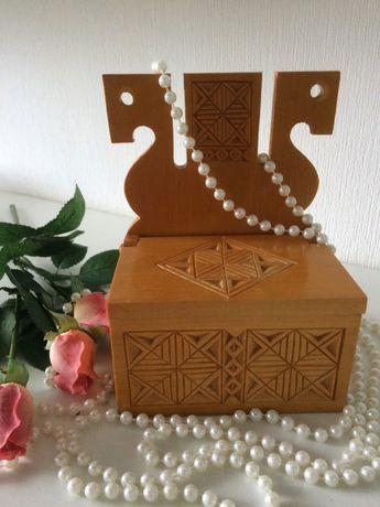 Шкатулка деревянная / ручная робота / деревянные сувениры СССР