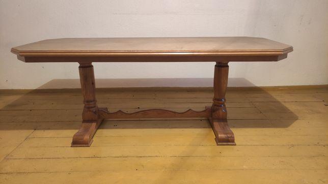 Stół drewniany stolik kawowy duży masywny 182 x 74 x 70