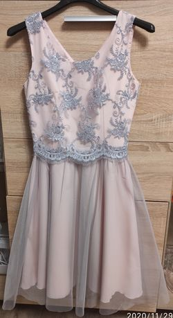 Sukienka 34-36, tiul, koronkowa, jak nowa