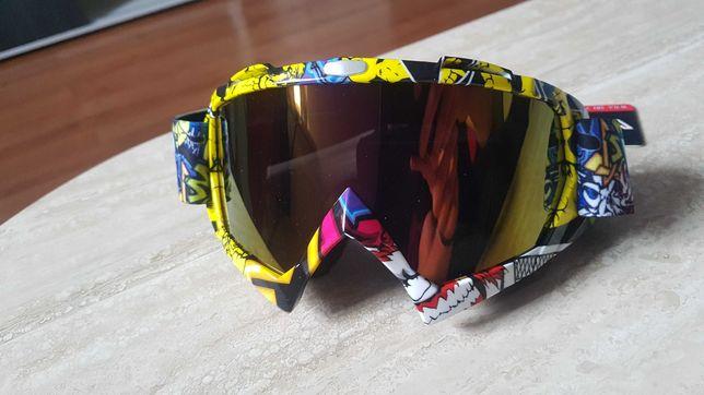 Gogle okulary enduro cross quad motocross świetna jakość!! Polecam