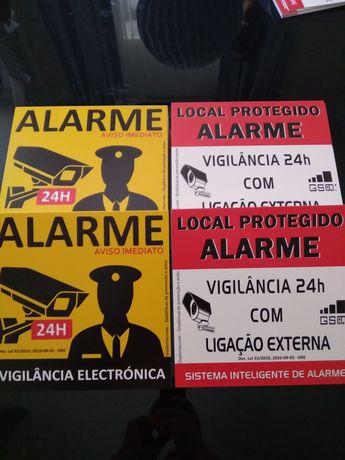 Placas de aviso de alarme