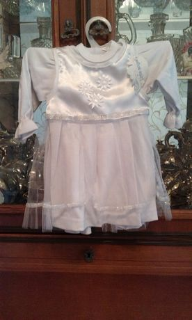 Новий костюмчик для хрещення.Платячко.