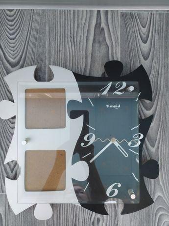 Часы фоторамка в форме пазла