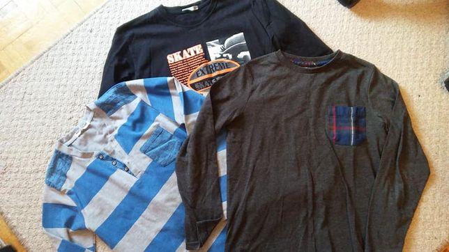 koszule, swetry, koszulki, spodenki rozmiar 140 m.in ZARA