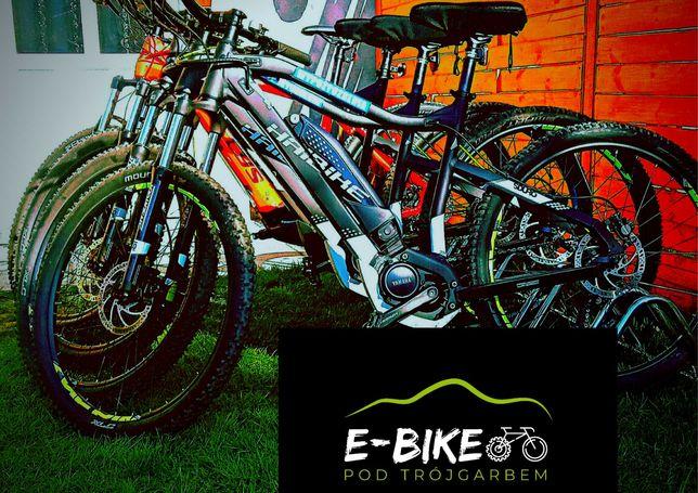 Wynajem rowerów elektrycznych mtb *E-bike pod Trójgarbem*