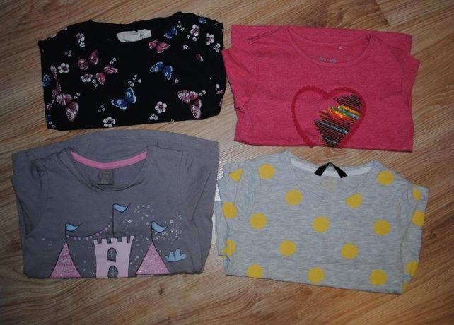 10->4szt bluzeczka na długi rękaw H&M 5.10.15 GEORGE r.98/104 2-4Y