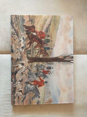 Obraz przedstawiający polowanie.