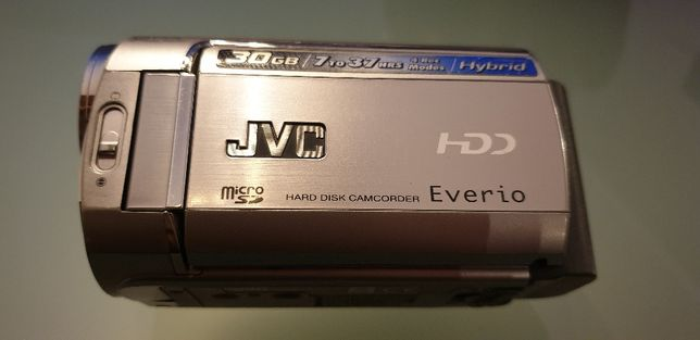 JVC HDD 30GB Híbrida GZ-MG330HE com 35x Zoom Óptico - pouco uso