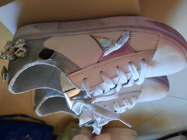 Nowe skorzane buty r.38